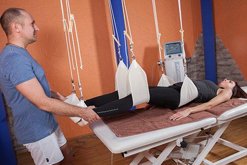 Traktionstherapie mittels Schlingentisch - Behandlungsmethoden Physiopraxis Antosik